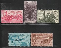 EGYPTE - N°399/403 ** (1957) Egypte , Tombeau Des Envahisseurs - Ungebraucht