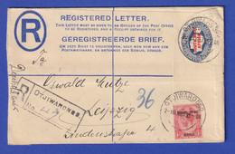Südwestafrika R-Ganzsache Mit ZF 1923 Von OTJIWARONGO Gel. Nach Leipzig - Namibia (1990- ...)