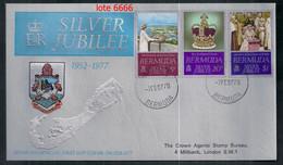BRITISH COLONY BERMUDA 1977 SÉRIE 25 ANS DU COURONNEMENT EN COUVERTURE PREMIER JOUR - Other