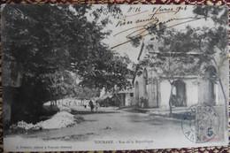 CPA Indochine Annam Tourane Danang - Rue De La République Dong Kang 1904 Marché Halles RARE ! - Vietnam