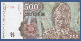 ROMANIA - P.98b – 500 LEI  1991 UNC Serie G.0024 844559 - Romania