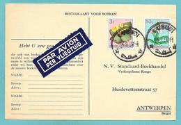 BELGISCH CONGO BELGE LUBUDI 1959 BESTELKAART VOOR BOEKEN PAR AVION N°C537 - 1947-60: Lettres