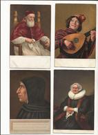 ( 4398 ) Lot De 4 Cartes Tableux Frans Hals Rambrandt Sanzio.. - Pittura & Quadri