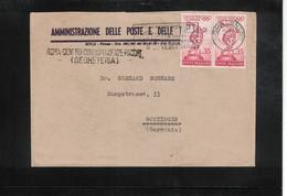 Italia / Italy 1960 Olympic Games Rome  Interesting Letter - Estate 1960: Roma