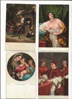( 4399 ) Lot De 4 Cartes Tableaux  Reni - Rafaello - Ostade - - Pittura & Quadri