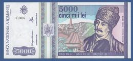 ROMANIA - P.104 – 5.000 LEI  5-1993 UNC- Serie C.0004 000960 Low Number - Romania