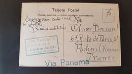 Santiago - Sent To Poitiers Vienne France - Via Panama - Cile