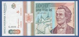 ROMANIA - P.102 – 1.000 LEI  5-1993 XF/UNC Serie G.0028 652861 - Romania