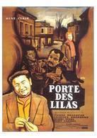 Georges Brassens Pierre Brasseur Henri Vidal Dany Carel Porte Des Lilas - Affiches Sur Carte