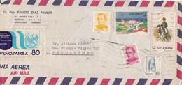 EXPOSICION INTERNACIONAL DE FILATELIA BUENOS AIRES, VIGNETTE. URUGUAY ENVELOPPE COMMERCIAL. CIRCULEE 1980.- LILHU - Briefmarkenausstellungen