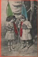 Militari - Patriottiche - 1915 - 5c Helvetia - Italia-Francia - A Colori - Viaggiata Da Genève Per Genève, Suisse - Patriottiche