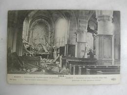 MILITARIA - BARCY - Intérieur De L'église Après Le Passage Des Troupes Allemandes - Guerra 1914-18