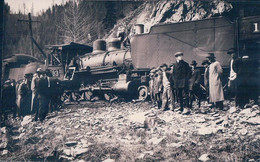 Chemin De Fer, Train à Vapeur, Accident Du 17 Mai 1916 Près De Wallace USA ? Plusieurs Blessés (17516) - Altri