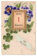 AÑO NUEVO. CIRCULADA EN 1912. - Anno Nuovo