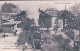 France 06, Chemin De Fer, Train à Vapeur En Gare De Cannes (426) - Stazioni Con Treni