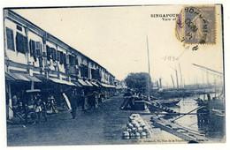 Singapour - View Of The Quays - Oblitération Année 1930  - 2 Scans - Singapore