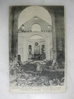 MILITARIA - BASCHVILLER - Vue Intérieure De L'église Incendiée Et Bombardée Par Les Allemands - Guerra 1914-18