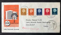 NETHERLANDS, Circulated Cover, « Aviation », « FIRST FLIGHT », « SAIGON », 1959 - Airmail