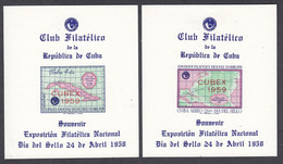 Cuba, Scott #Non-Scott, Mint Hinged, National Philatelic Exposition, Issued 1958 - Unused Stamps