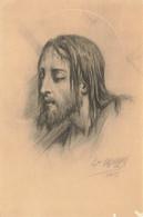 PORTRAIT Du CHRIST Par Hippolyte LAZERGES - Gesù