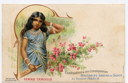 Publicité.femme Tamoule.véritable Grains De Santé Du Docteur Franck. - Pubblicitari