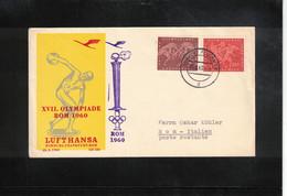 Germany / Deutschland 1960 Olympic Games Rome Lufthansa Flight Hamburg - Rome - Estate 1960: Roma