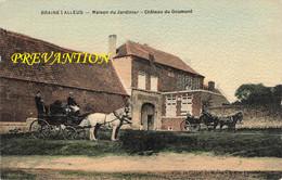 BRAINE L'ALLEUD - Maison Du Jardinier - Château Du Goumont - Carte Colorée Avec 2 Attelages - Braine-l'Alleud