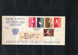 San Marino 1961 Olympic Games Rome Interesting Letter - Estate 1960: Roma