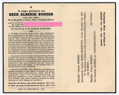Bossier Alberik Zoon Hendrik En Julia Vandekerckhove Gits - Religione & Esoterismo