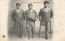 Marins , Unis Par Le Malheur , Accordéon , Béquilles , Pilons, Unijambistes - Fischerei