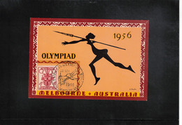 Australia 1956 Olympic Games Melbourne - Athletics  Interesting Postcard - Estate 1956: Melbourne
