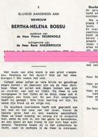 Bossu Bertha Helena Degrendele Haezebrouck Crevit Ooghe - Religione & Esoterismo