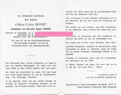 Bossu Gilbert Valere Tanghe Agnes Vanneste Verhelst Hooglede - Religione & Esoterismo