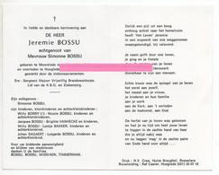 Bossu Jeremie Bossu Simonne Missiaen Timmerman Moorslede - Religione & Esoterismo