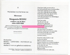 Bossu Margareta Lefevere Alois Huysman Soubry - Religione & Esoterismo