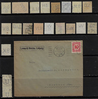Germany 1924 Commercial Cover Lemp & Siecke Clothing Factory From Leipzig ToSimbach Perfin LS +20 Stamp Lochung Perfore - Briefe U. Dokumente