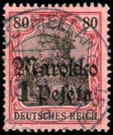 Deutsche Auslandspost Marokko, 1913, 54, Gestempelt - Deutsche Post In Der Türkei
