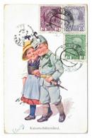 PAREJA DE NIÑOS. KAISERSCHÜTZENLIESL. CIRCULADA EN 1913. - Kindertekeningen