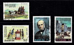 Barbuda 1979 Sir Rowland Hill Cetenary Set Of 4 Used - See Notes - Barbuda (...-1981)