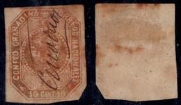 "2- KOLUMBIEN - 1859-1860 - 10 CTS - USED - ""GUADUAS"" PEN CANCEL - - Colombia"