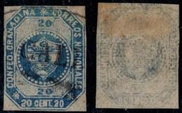 "3- KOLUMBIEN - 1859-1860 - 20 CTS - USED - ""CALI FRANCA"" - Colombia"
