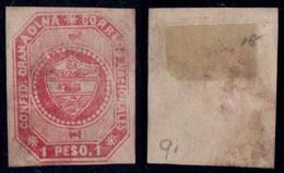 5- KOLUMBIEN - 1859-1860 - 1 PESO - MINT NO GUM - - Colombia