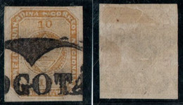 "7- KOLUMBIEN - 1860-1861 - 10 CTS - USED - ""BOGOTA""  EYEGLASS - Colombia"