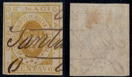 "11- KOLUMBIEN - 1861-1862 - 5 CTS - USED - ""SANTANDER""  - PEN CANCEL - Colombia"