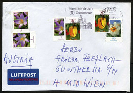 Germany (BRD) 2009, Briefzentrum 30 Hannover ATM Label Postal Used Air Mail Cover   Flowers: Crocus, Tulip, Narcissus - Briefe U. Dokumente