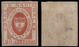 14- KOLUMBIEN - 1861-1862 - 10 CTS - MINT HINGED - ORIGINAL GUM - Colombia