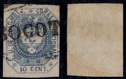 "15- KOLUMBIEN - 1862-1863 - 10 CTS - USED - ""BOGOTA"" PEARL - Colombia"