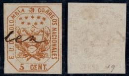 "18- KOLUMBIEN - 1863-1864 - 5 CTS - USED - "" MANIZALES "" - PEN CANCEL - Colombia"