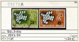 Belgien 1961 - Belgique 1961 -  Belgium 1961 - België 1961 - Michel 1253-1254 - Oo Oblit. Used Gebruikt - Gebraucht