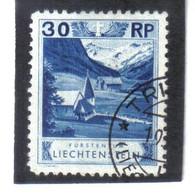 BAU386 LIECHTENSTEIN 1930 Michl  99 Gestempelt / Entwertet ZÄHNUNG SIEHE ABBILDUNG - Gebraucht